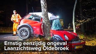 Zwaargewonde bij ernstig ongeval Laanzichtsweg Oldebroek - ©StefanVerkerk.nl