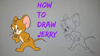 How To Draw Jerry (Tom And Jerry) - Step By Step Tutorial By Kids Art World