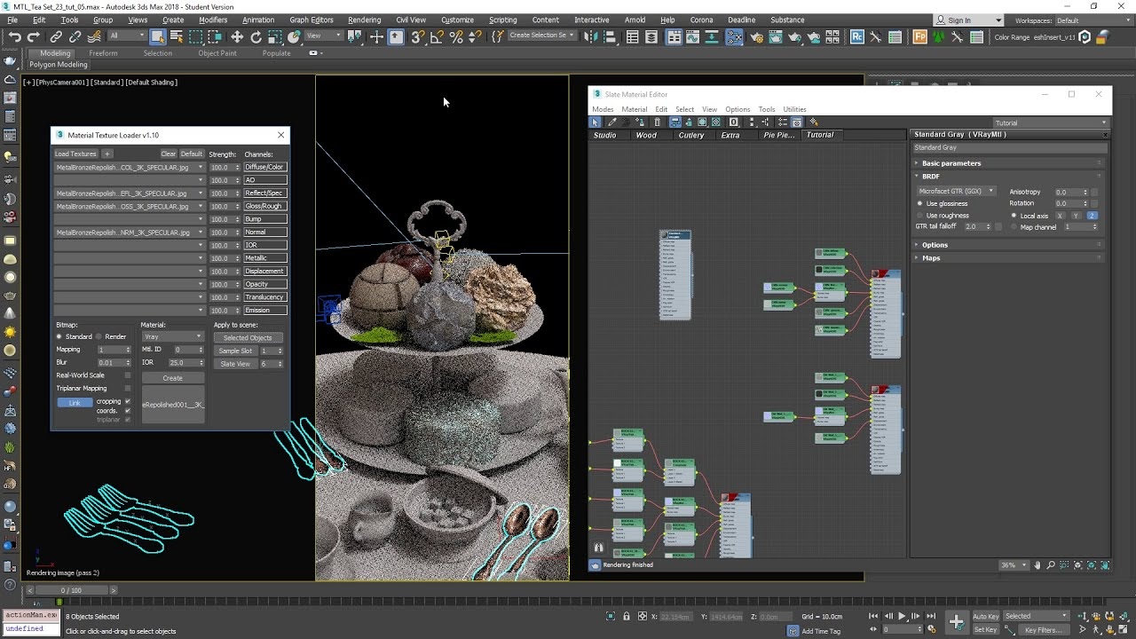 Material Texture Loader v1 1: 3ds Max PBR workflow script