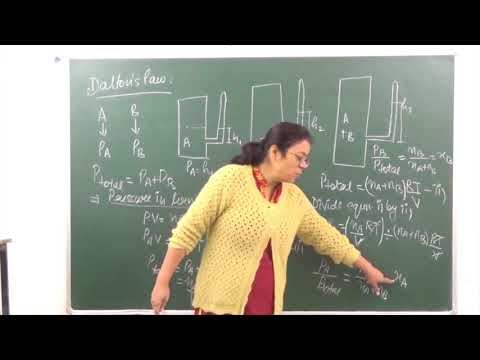 CHEM-XI-5-03 DALTON'S LAW OF PARTIAL PRESSURE (2017) Pradeep Kshetrapal Physics channel