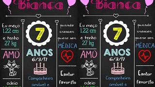 DIY Tutorial Chalkboard de Aniversário Passo a Passo #Lilateliê