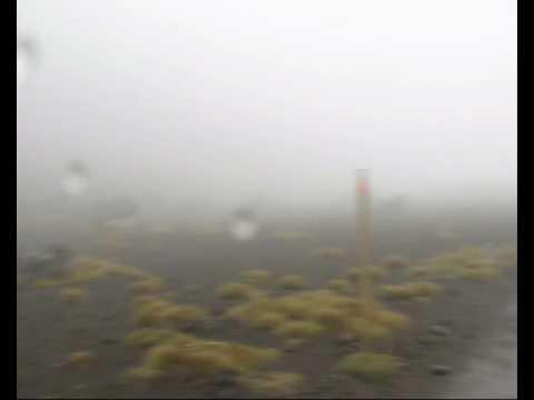 Tongariro Alpine Crossing In Bad Weather Conditions. February 2010.
