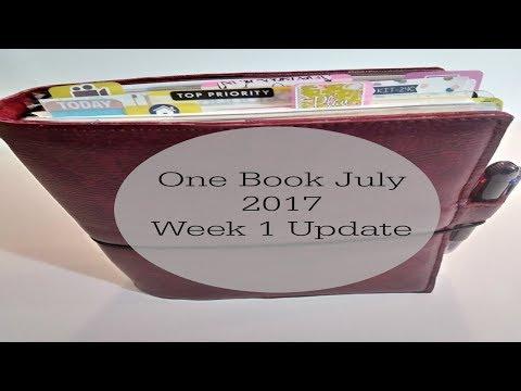 A5 Traveler's Notebook Full Walk Through & #OneBookJuly2017 Week 1 Update