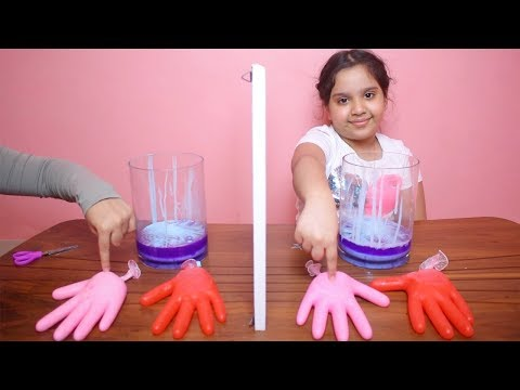 تحدي التوأم بالسلايم القفازات !!! !!! Twin Telepathy Slime gloves Challenge