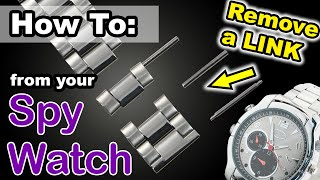 How To: Remove A Link To Make A Watch Band Tighter