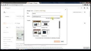 how to create blog on blogger.Make free on google blogger service.
