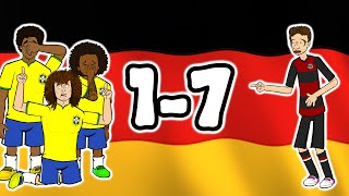 🏆1-7! Germany destroy Brazil!🏆 (World Cup 2014 Semi-Final Parody Goals Highlights)