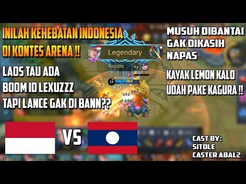 Ini Jadinya Laos Gak Bann LAncelot? Ada Boom Id LexuZZZ - Arena Kontes INA VS LAOS #Game 1