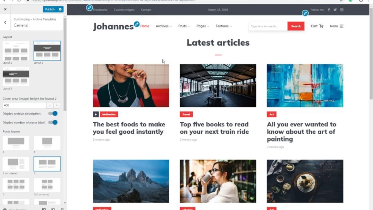 Setup Wordpress Magazine Website With Johannes Wordpress Theme Video Tutorial Youtube