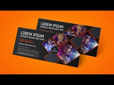 Creative Gift Voucher Design - Photoshop CC Tutorial thumbnail