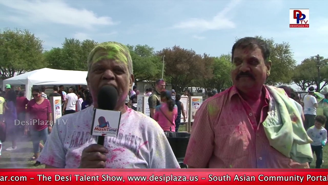 Lots of enjoyment at RadhaKrishna Temple Holi Celebrations at Southfork Ranch || DesiplazaTV || USA