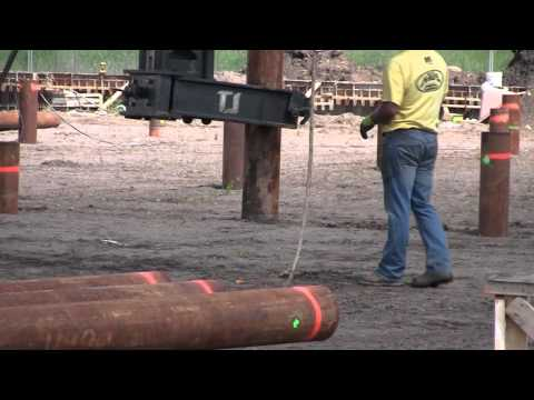 Driving Piles For A Building Foundation