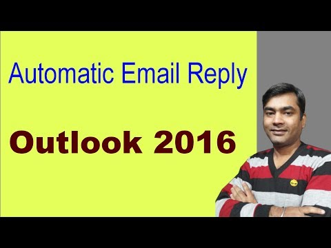 Out Of Office Message - How To Create An Out-of-office Reply In Outlook (Hindi)