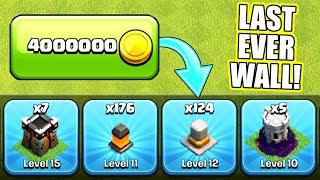 IS THIS THE LAST EVER WALL!! - Clash Of Clans - ALL LEVEL 12!!