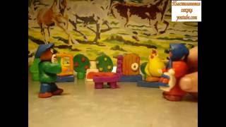 Пластилиновый мультфильм Курочка Ряба. По мотивам известной народной сказки.
