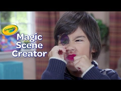 NEW Crayola Magic Scene Creator || Crayola Product Demo