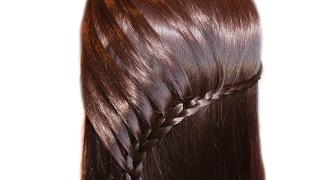 Коса на бок♥Техника плетения мост♥Простые прически на длинные волосы каждый день в школу, на работу