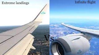 Extreme landings vs infinite flight