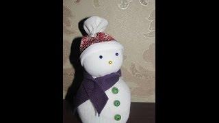 Как сделать снеговика из носка