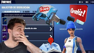Free Skin and Fortnite Glider, Returns up to 3 purchases, How to change the game server