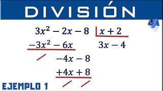 División de polinomios | Ejemplo 1