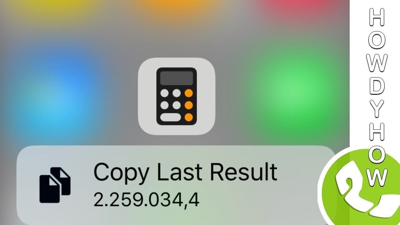 Fast COPY/PASTE the CALCULATOR result with 3D Touch - How-to video