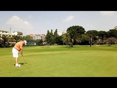 9th Hole ZZ Birdie Putt Asia Pattaya Golf Course Thailand