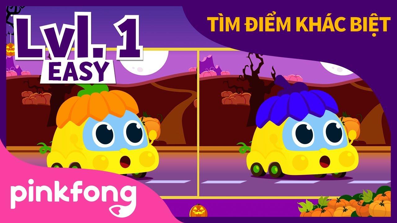 Halloween Baby Car   Tìm điểm khác biệt   Bài hát Halloween   Pinkfong! Những bài hát cho trẻ em