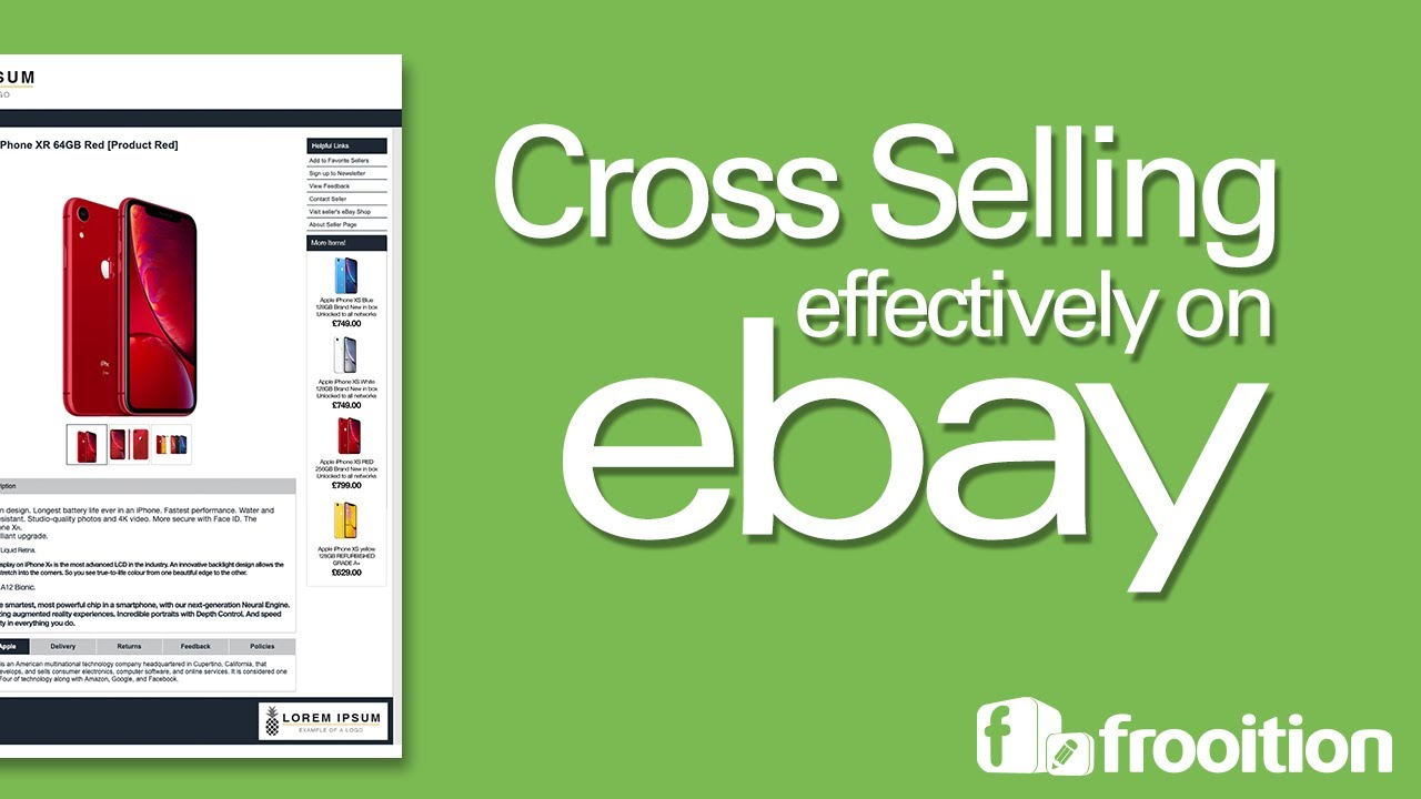 Cross Selling On Ebay Intelligent Cross Promotion Frooition