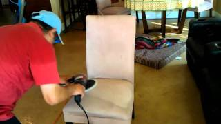 Upholstery/Furniture Cleaning with Xerion's  Low Moisture Products