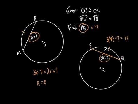 Geometry Sec 10 3 Arcs And Chords Youtube