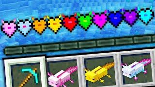 Minecraft, But There's Custom Axolotl Hearts...