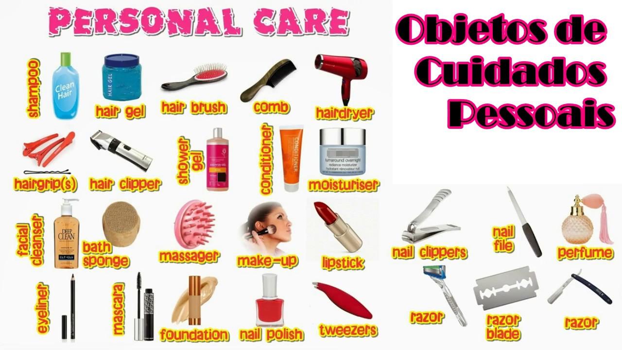 Muito ➤Objetos de Cuidados Pessoais em inglês 💄 Personal Care Objects  AQ21