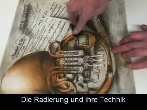 Horn-Radierung Exklusiv David Moltz