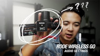 Rode Wireless GO | Audio Settings for the Sony Cameras