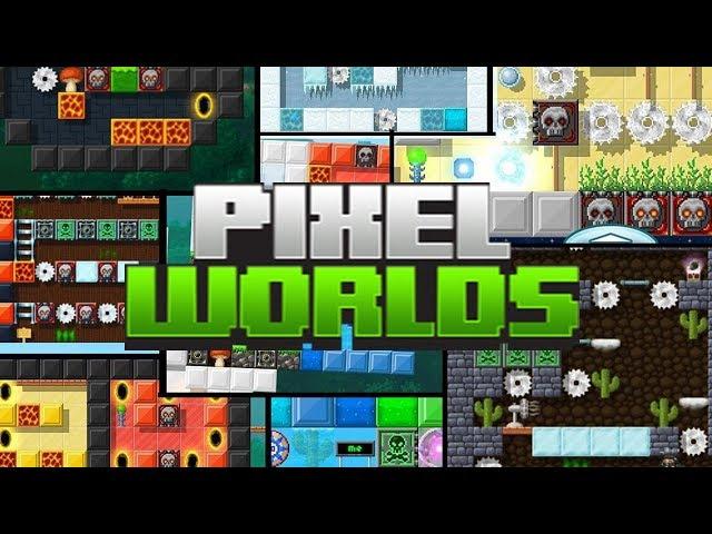 Pixel Worlds! - Parkour, Mortes e Desafios!!