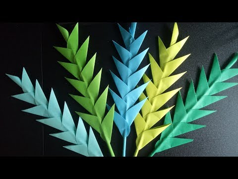 WALL DECOR | BEAUTIFUL DIY PAPER LEAVES | A SIMPLE TUTORIAL VIDEO