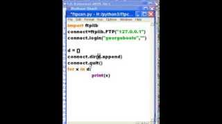 Python  FTP 127.0.0.1