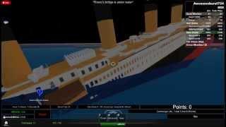 Roblox Titanic, waching Titanic affondare dal ponte del Titanic