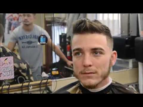 CRAZY TRANSFORMATION HAIRCUT BY ANTHONY THE BARBER!!! FAUXHAWK BALD FADE!