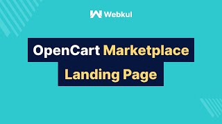 Opencart Marketplace Landing Page Setting