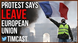 """French Protesters Say """"Leave EU"""" And Call For Less Immigration amon..."""
