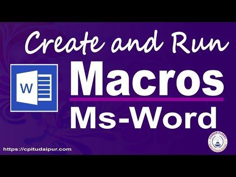 Microsoft Word Macro (Hindi)   How to Create Macro in MS Word