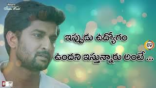 Nani Emotional Very Heart Touching Love Dialogue Nenu Local Telugu Whatsapp Status Video T S W HD