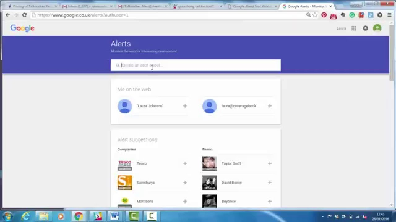 Monitoring Demos - Google Alerts