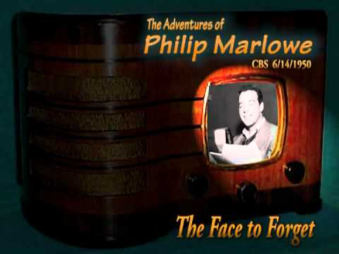 """Philip Marlowe """"The Face to Forget"""" 6/14/50  Oldtime Radio Noir  Crime Drama"""