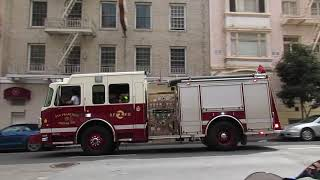 San Francisco Fire Department @ Bush St & Mason St San Francisco California