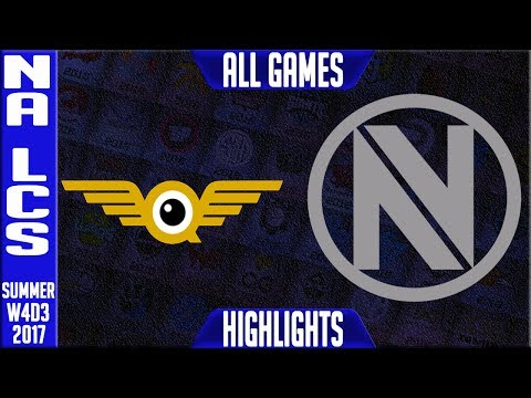 FlyQuest vs Team Envy Highlights ALL GAMES | NA LCS Week 4 Summer 2017 | FLY vs NV