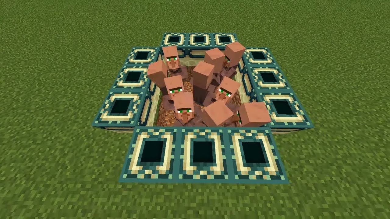 villagers in the end portal