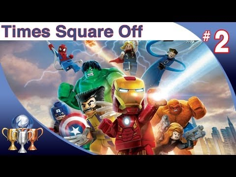 LEGO Marvel Super Heroes Walkthrough - Level 2 (Times Square Off) Doctor Octopus Boss Battle